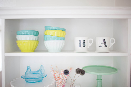 Anthropologie mugs and latte bowls