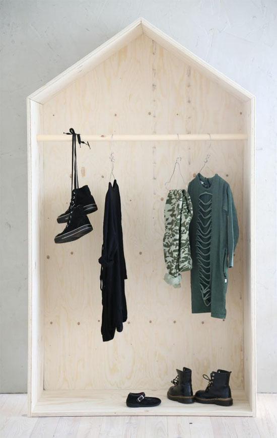 Plywood house closet