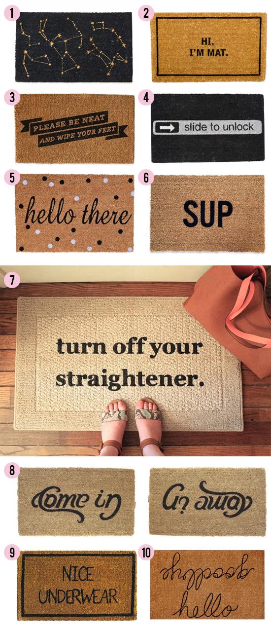 knock knock 15 clever doormats at home in love. Black Bedroom Furniture Sets. Home Design Ideas