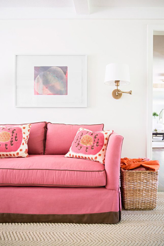 Pink Sofa On Pinterest Pink Furniture Pink Couch And Pink Living R