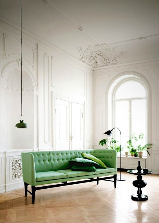A round-up of green sofas