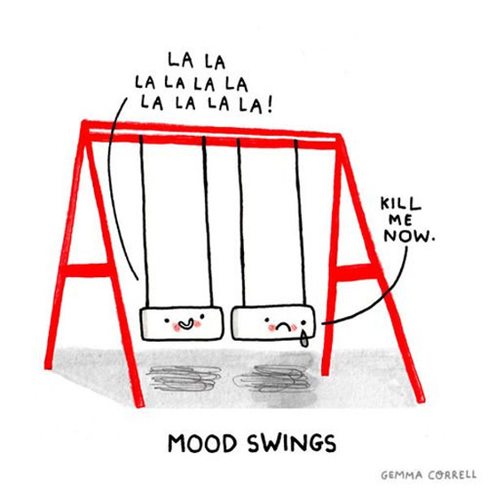 Mood swings // by Gemma Correll