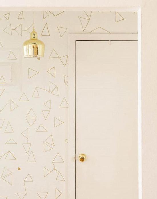Gold Sharpie wall