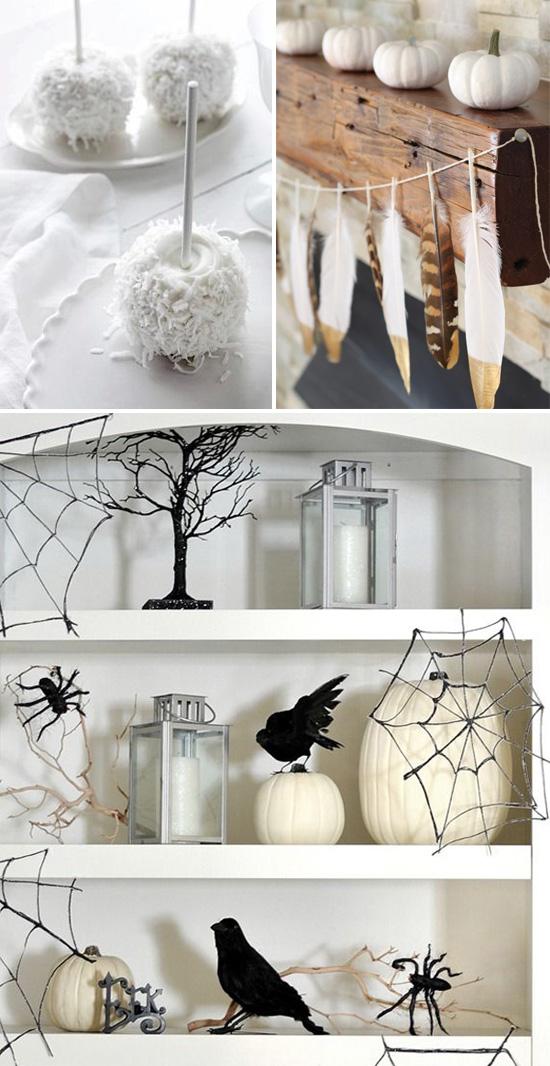 A modern white Halloween