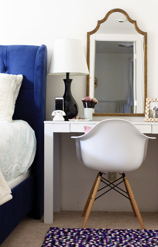 Bedroom with vanity as the nightstand