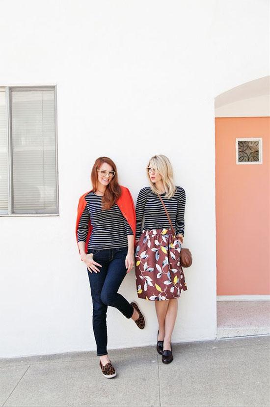 Striped shirts, two ways