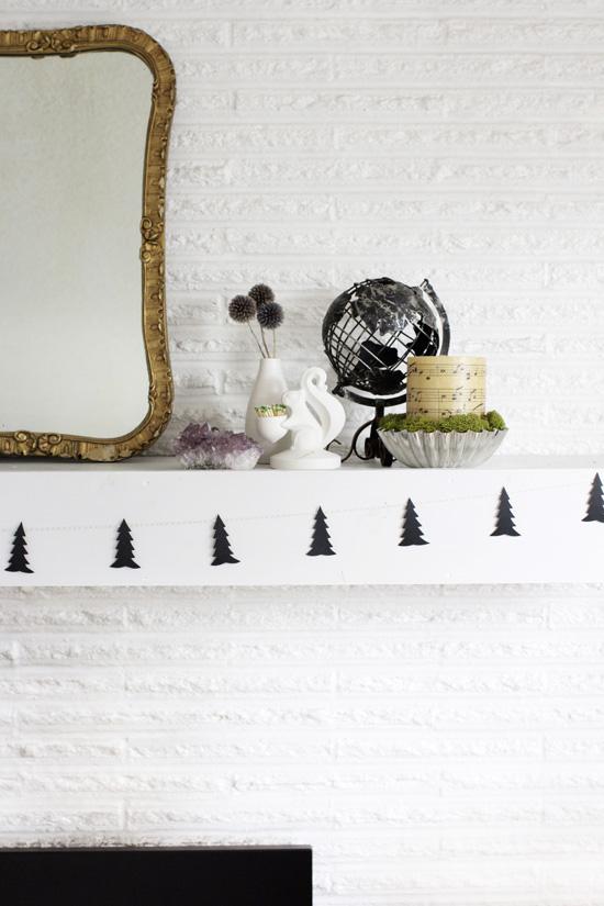 DIY Scandinavian tree garland