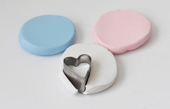 DIY clay conversation hearts