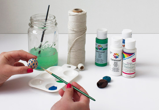 Painting beads