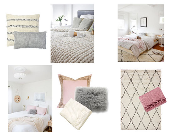 A soothing bedroom color palette