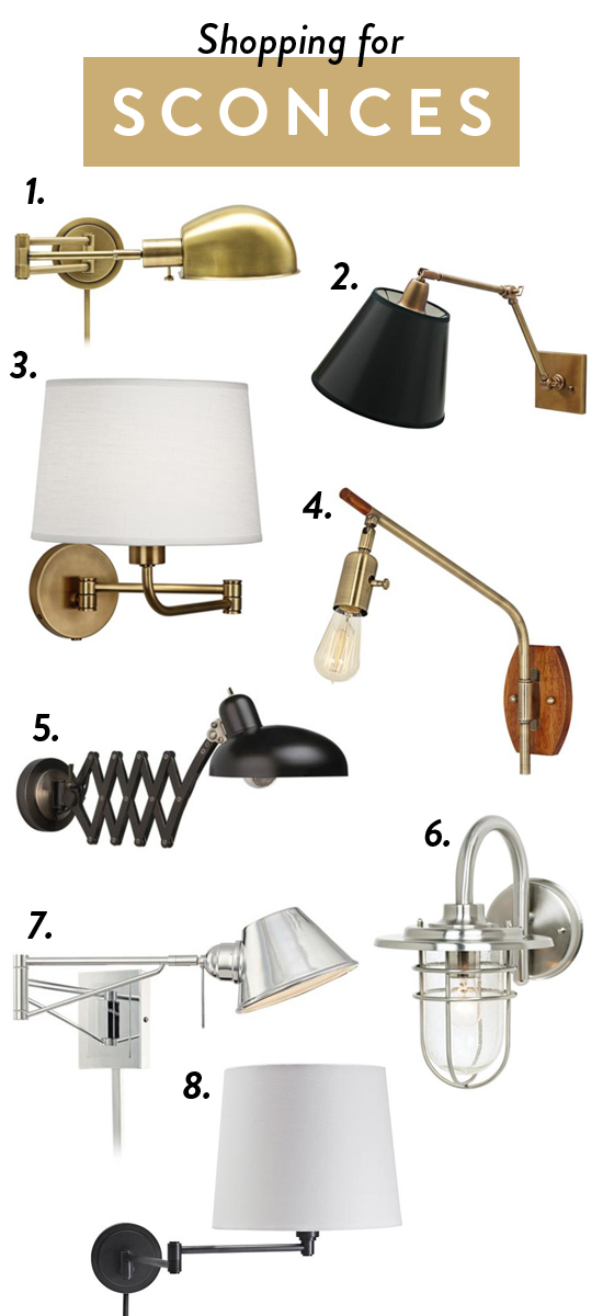 Shopping for sconces // Love these options