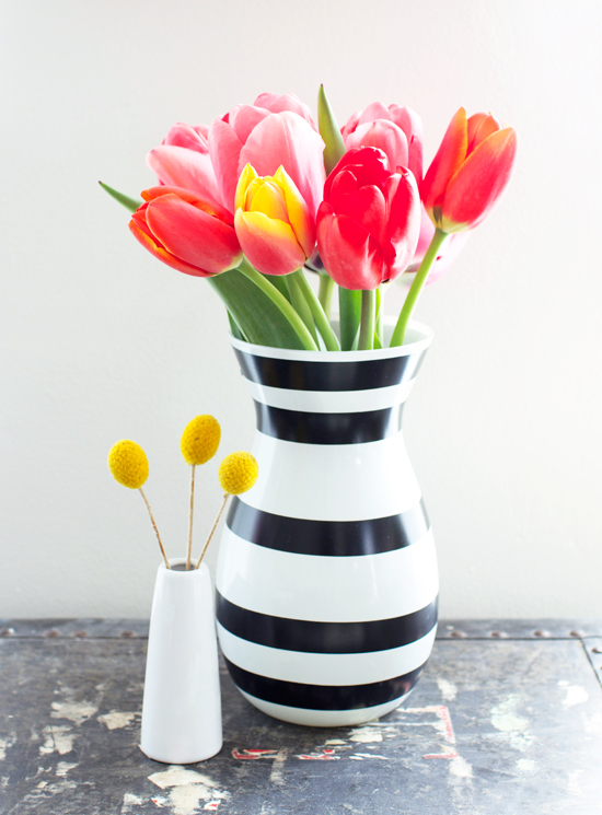 DIY striped vase