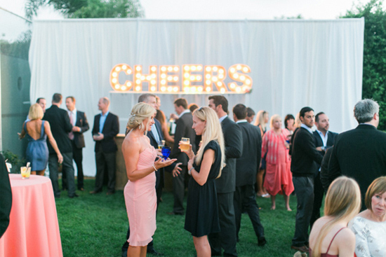 """""""Cheers"""" marquee sign"""