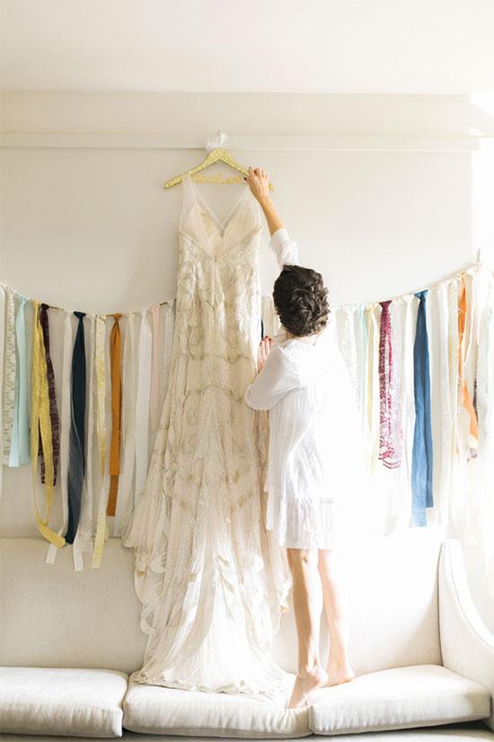 Fabric strip garland