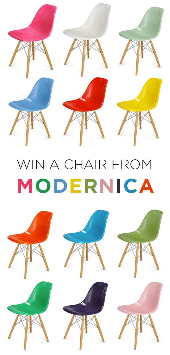 Modernica fiberglass chair giveaway