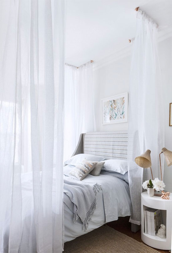 Trend to try: Sheer drapes in the bedroom