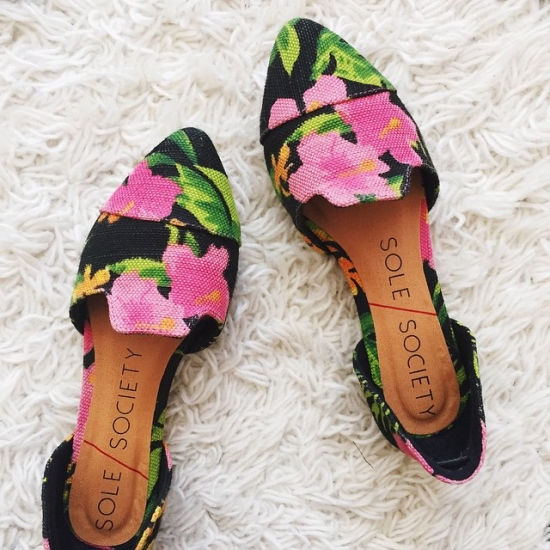 Floral flats for summer