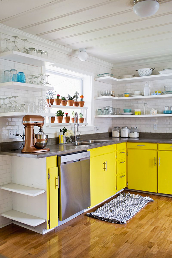 Trend to try: Colorful cabinets