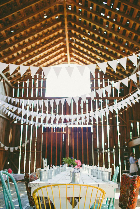 Barn with bunting