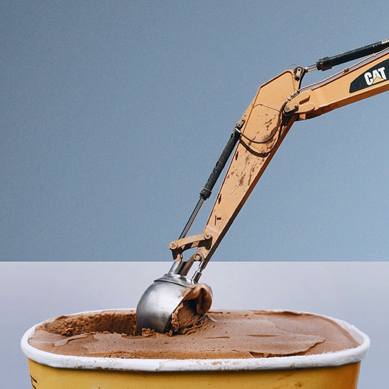 YESSS. An ice cream excavator!