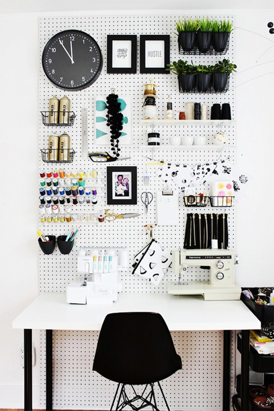 Pegboard in the office