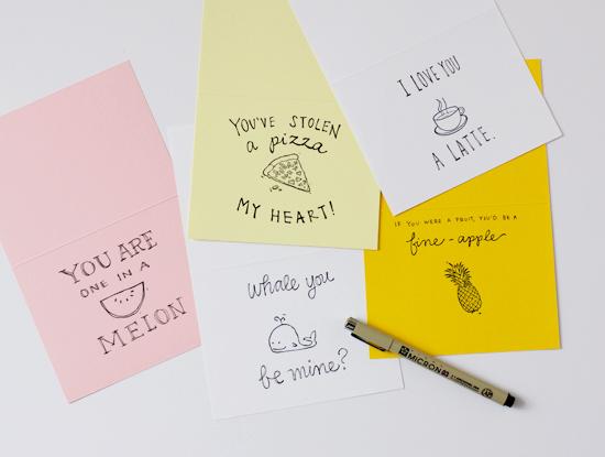 Handmade punny cards