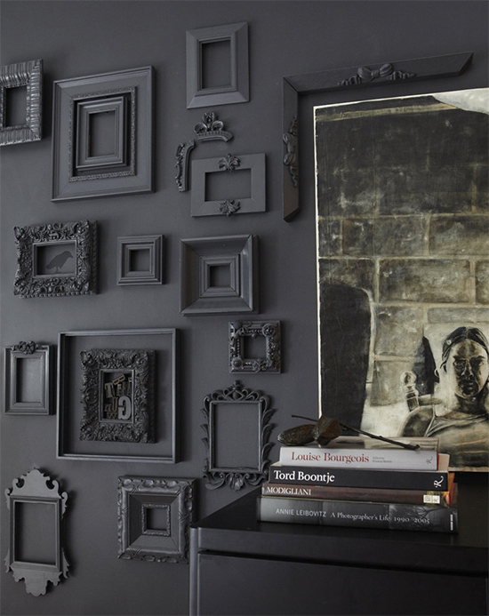 Frames that match the wall