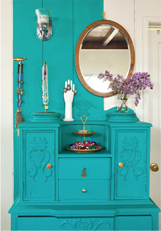 Painting furniture to match your wall