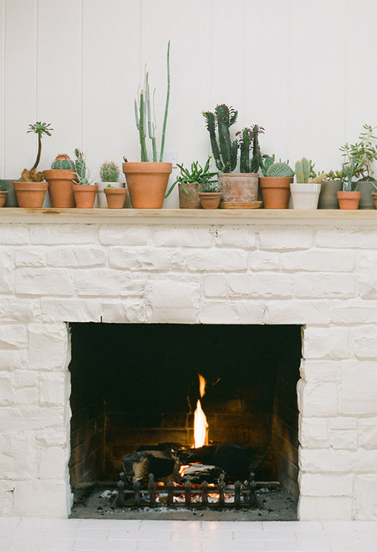 Easy trick for styling your mantel