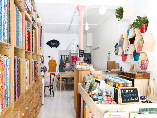 Black Oveja, a craft shop in Madrid, Spain