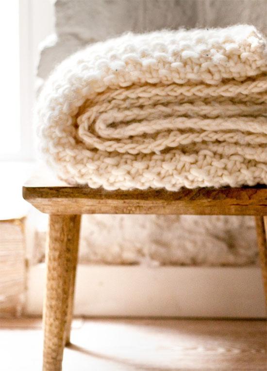 Cozy knit blanket