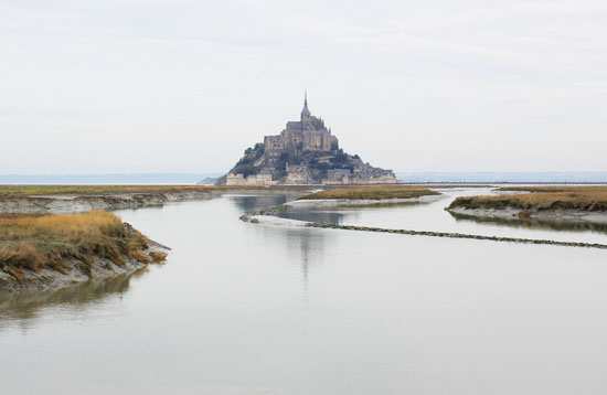 Mont St Michel from a distance