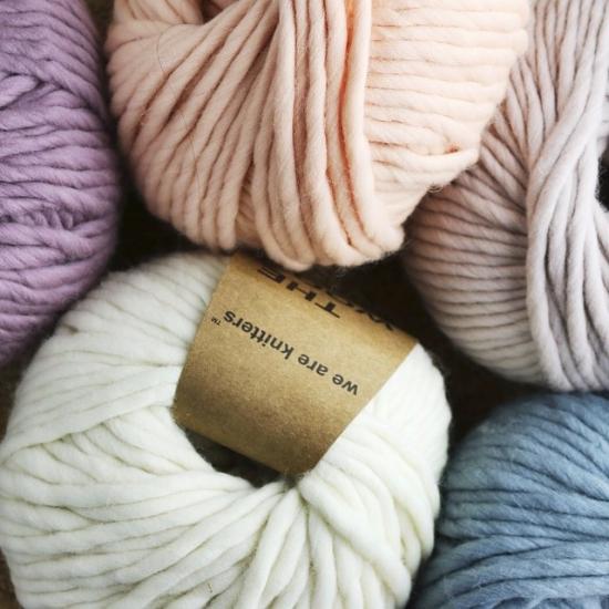 Beautiful colors of yarn