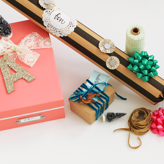 3 Ways to Wrap an Odd-Shaped Gift | At Home In Love