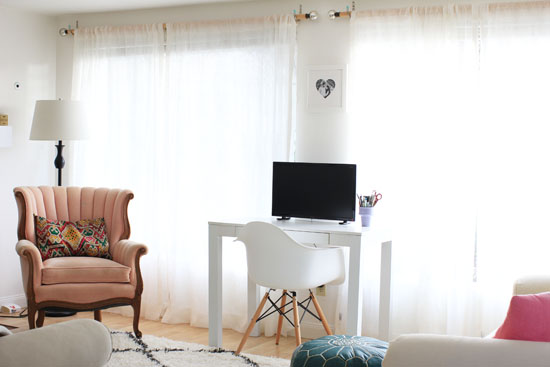 Putting a home office in the living room