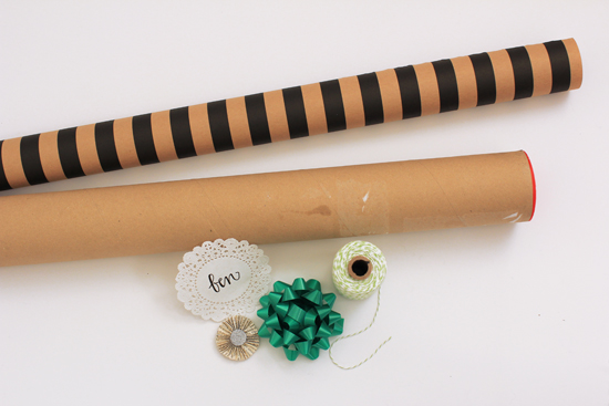 Wrap long skinny objects in a poster tube