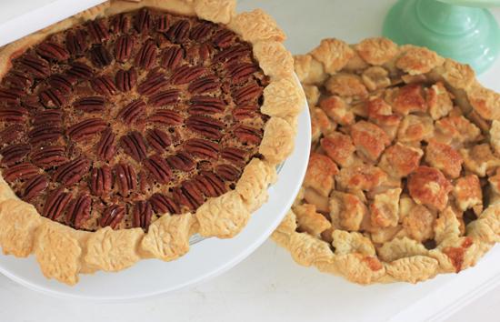 Pie with leaf crust