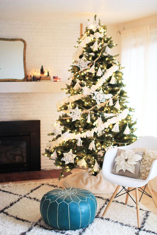 Scandinavian-style Christmas tree