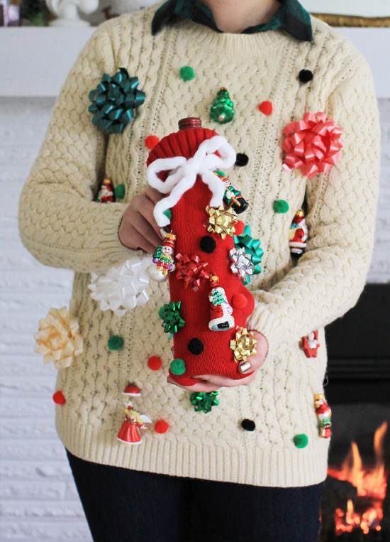 how to win your next ugly christmas sweater contest make a matching sweater