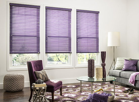 Lilac gray blinds