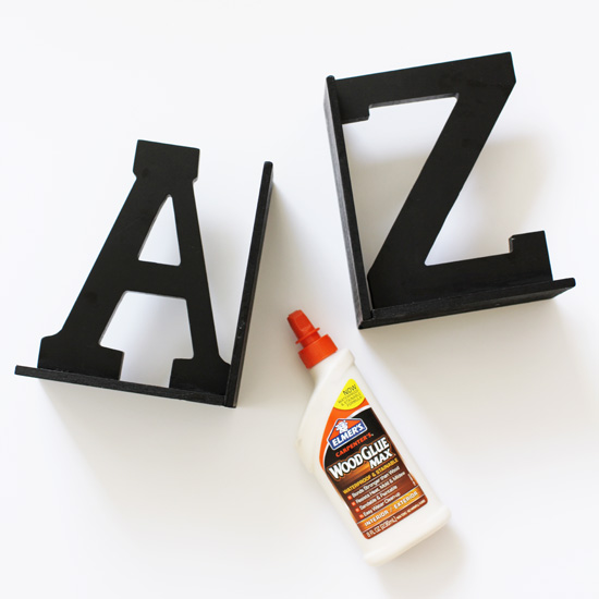 "How to make DIY ""A to Z"" bookends"