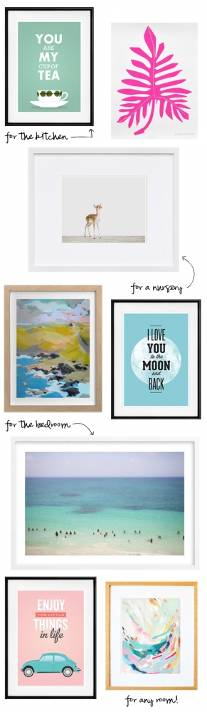 I Art You: Artwork for every room of the house!