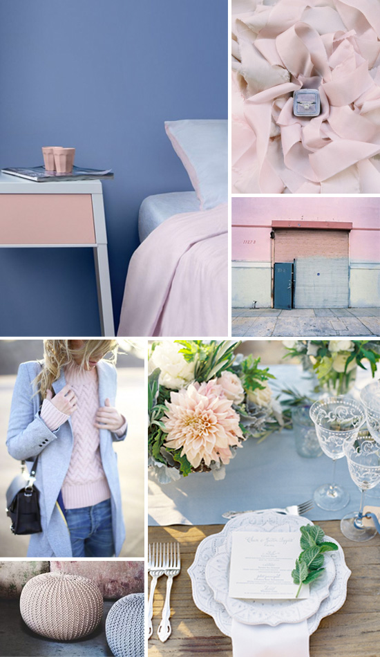 Rose quartz and serenity inspiration board