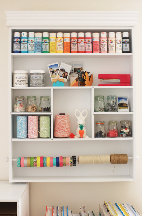 Wall organizer for craft supplies