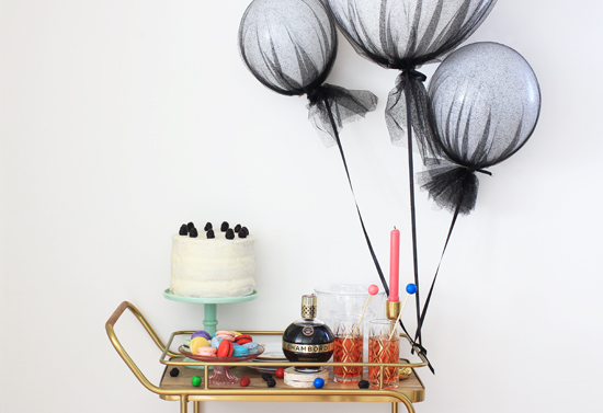 Tulle-covered balloons