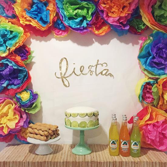 Fun backdrop for a birthday fiesta