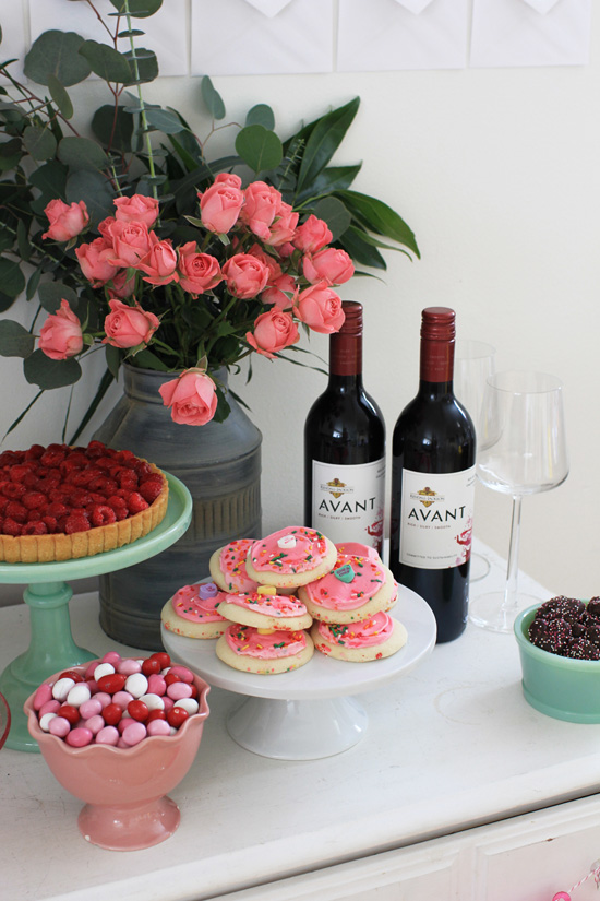 Valentine's Day dessert table with Kendall-Jackson