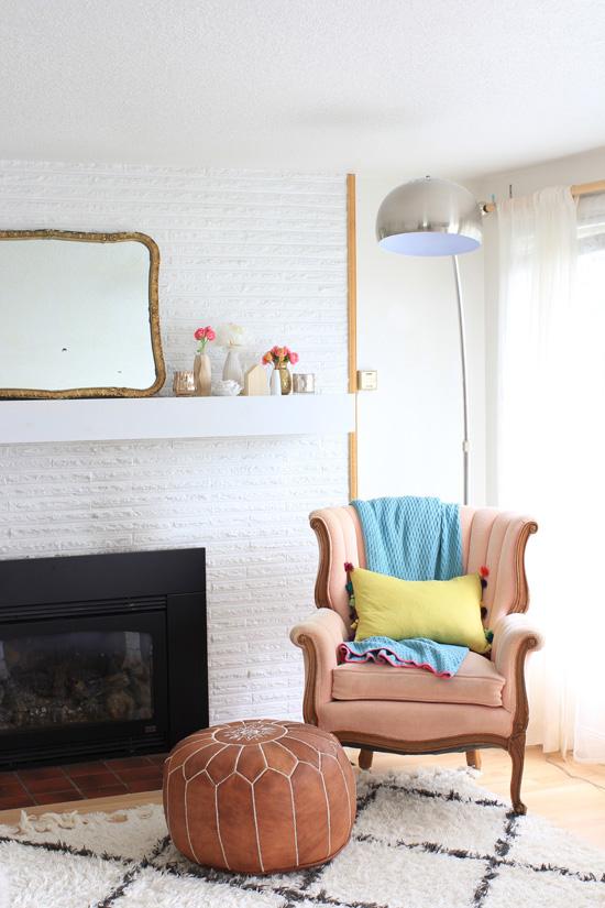 Living room update for spring