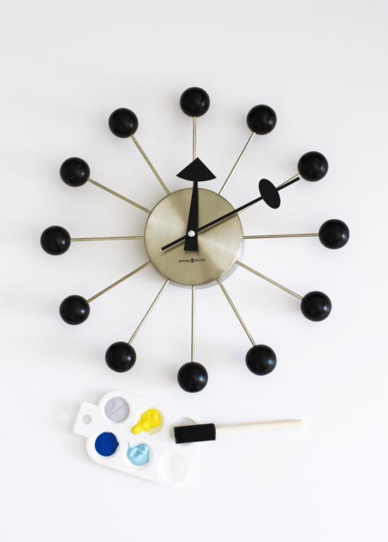 DIY colorful ball clock