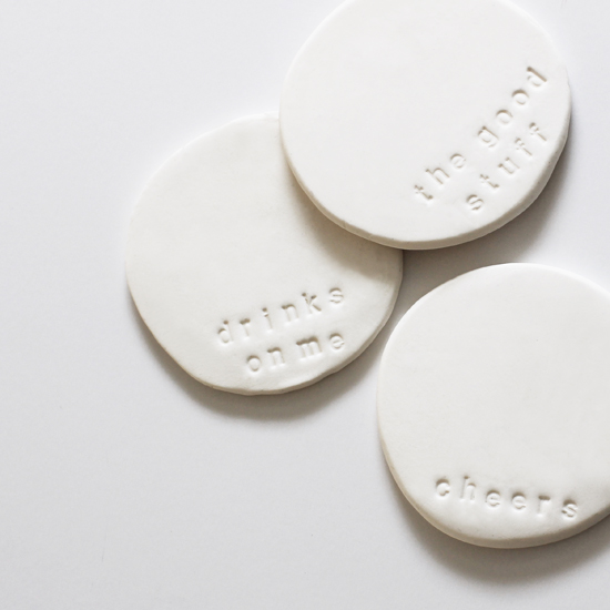 DIY Stamped Clay Coasters At Home In Love